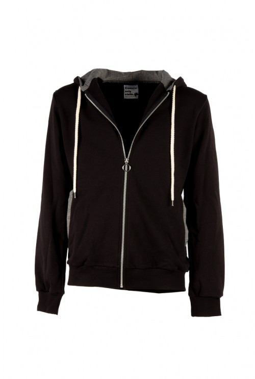 ZIP SWEATSHIRT WITH HOOD