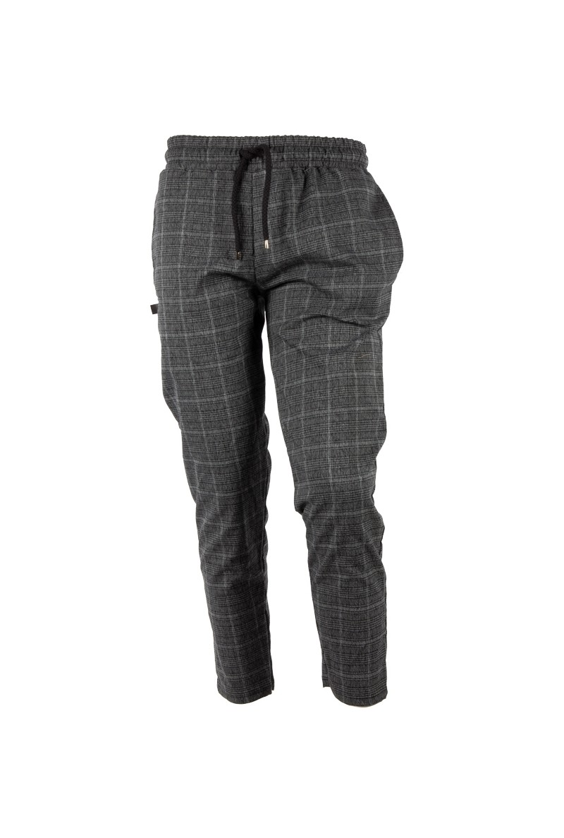 Gray Plaid Pants